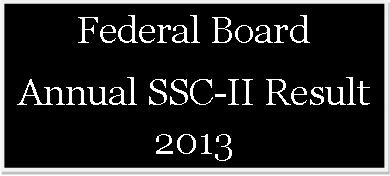 Federal Board Matric Result 2013 on 27 June 2013