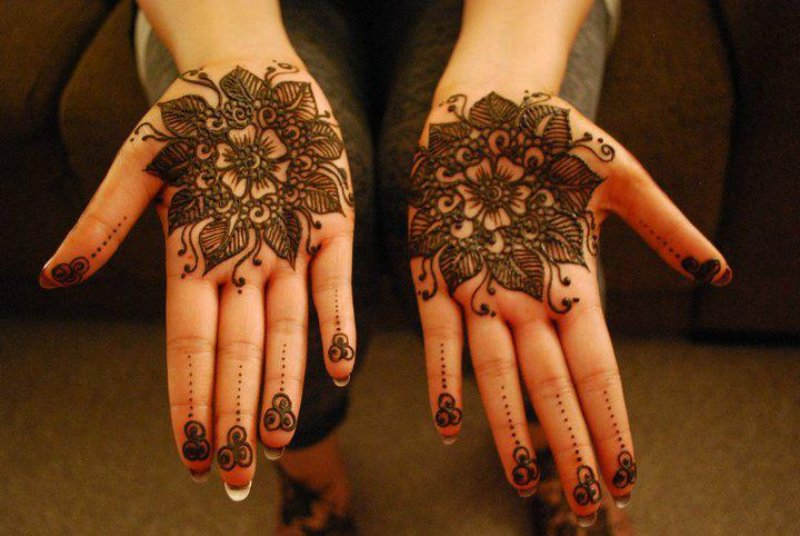 Henna Tikya and circular Patterns 2013