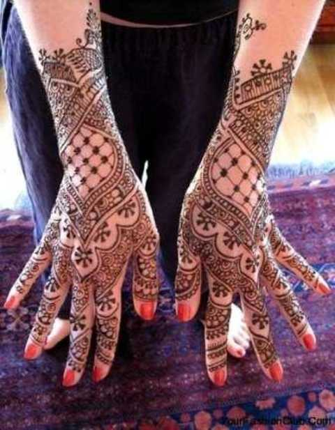 Mehndi Hands With Mobile : Arabic eid mehndi designs for hands