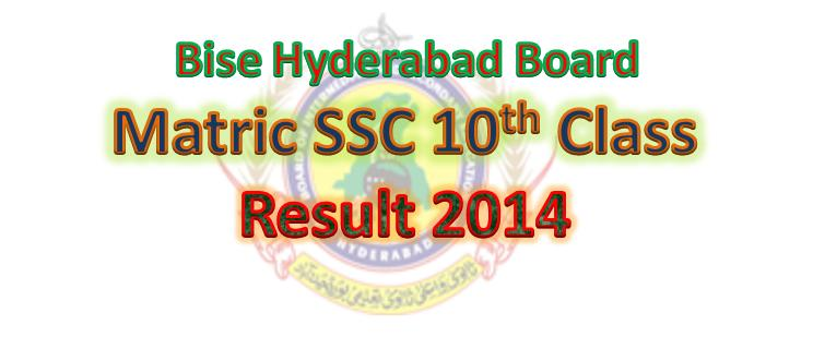 Online Matric SSC 10th Class Result 2014 Hyderabad Board