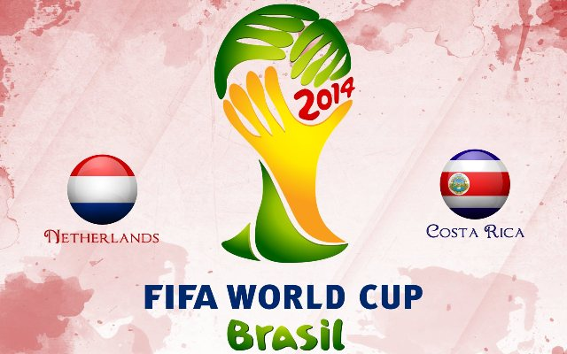 Netherlands vs Costa Rica World Cup 2014 live match streaming