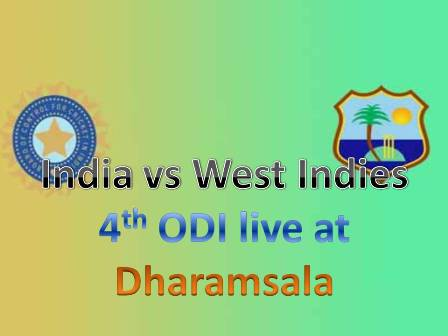 Live 4th ODI match streaming India Vs West Indies at Dharamsala