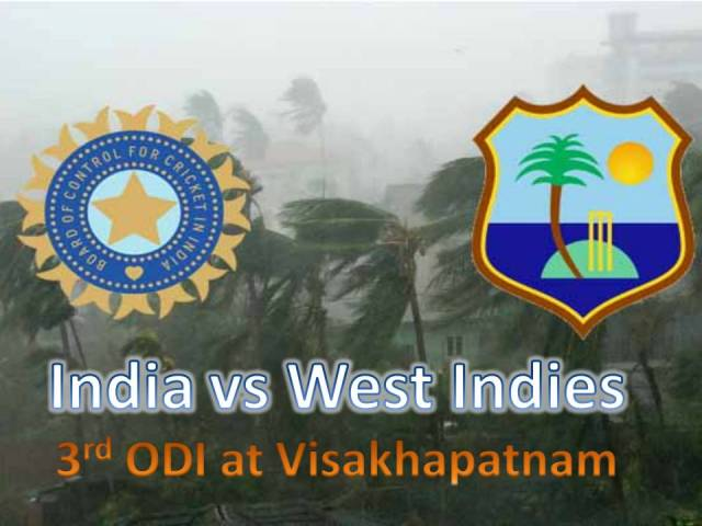 India Vs West Indies 3rd ODI gave Up to Cyclone