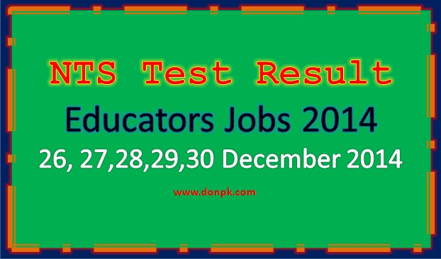 NTS written Test  Result  Result of all Educators