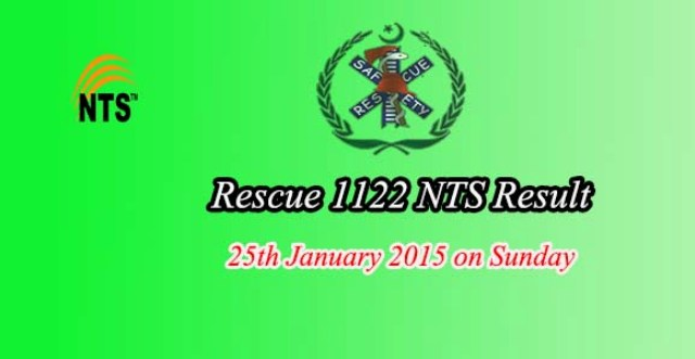 nts result answer keys 25th january  rescue 1122