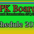 Examination Schedule matric inter KPK Boards