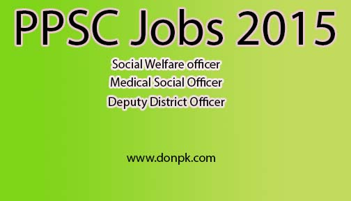 PPSC Government Jobs 2015