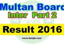 Online Multan board Inter HSSC 2nd year Result 2016