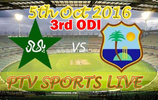 live streaming pak vs wi 5 oct 2016