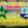 Pakistan vs West Indies 3rd ODI Live Stream PTV Sports 5 October 2016