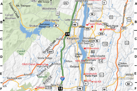 Map Of The Hudson River Valley - Hudson river on us map