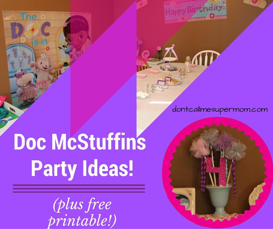 Doc McStuffins Birthday Party (and free printable welcome sign!)