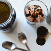 Easy Dark Chocolate Sauce (and BIG announcement)