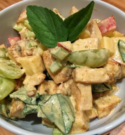 Salada de frango com maionese caseira