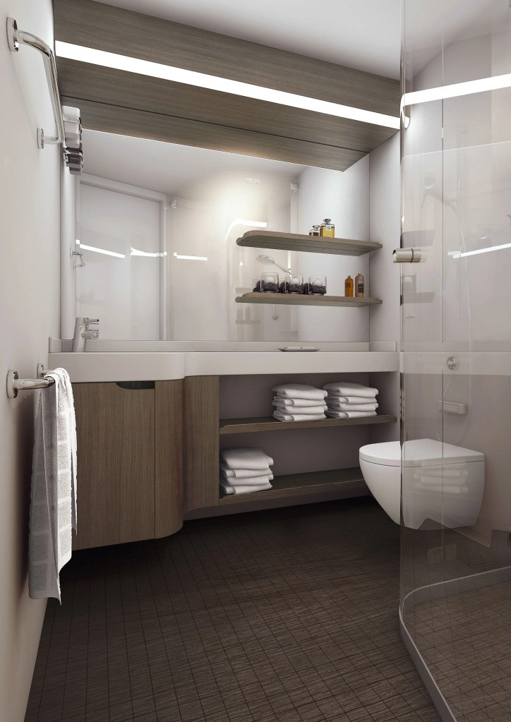 Norwegian Encore - Standard Bathroom Rendering