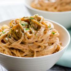 I am obsessed with this creamy chipotle pasta. The sauce is easy to make, vegan, and the whole thing takes less than 30 minutes to make.
