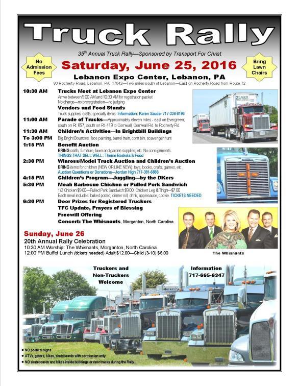 Truck Rally Flyer 2016
