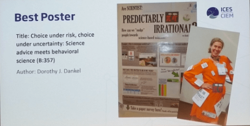 Dorothy wins BEST POSTER at ICES Annual Science Conference 2016 Riga