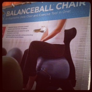 Balance Ball Chair!