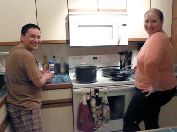 Me and Juan rockin' enchiladas
