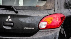 2014 Mitsubishi Mirage SE taillight