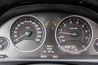 2014 BMW 335i GranTurismo instrument cluster