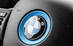 2015 BMW i3 steering wheel emblem