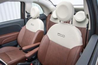 2014 Fiat 500C Lounge seats