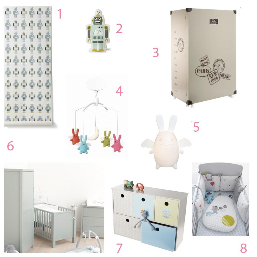 Inspirations pour une chambre de bébé (3)  Doudou & Stiletto