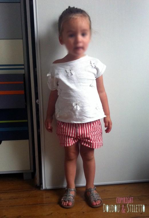Top et short Zara, chaussures Pom d'Api