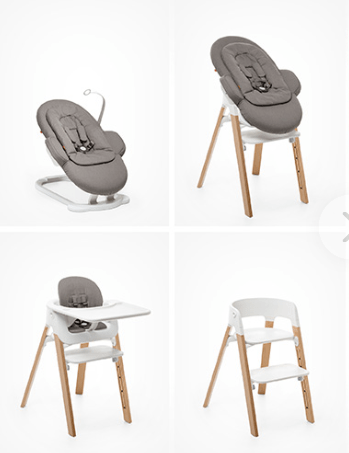 Test produit le transat steps de stokke doudou stiletto for Chaise haute stokke