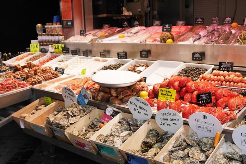 Trouville marché aux poissons
