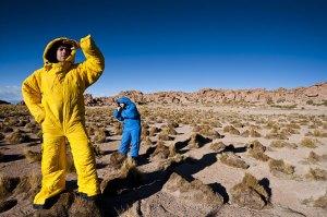 Selk'Bag worn in Atacama Desert of Chile