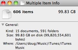 iTunes data