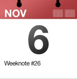 Weeknote #26
