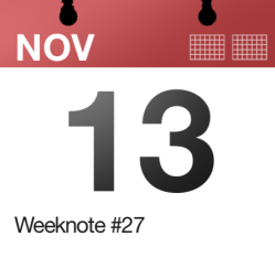 Weeknote #27