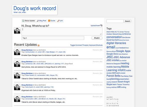 Doug's work blog (2012)