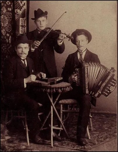 Trio with autoharp, fiddle and 2 row diatonic accordion.
