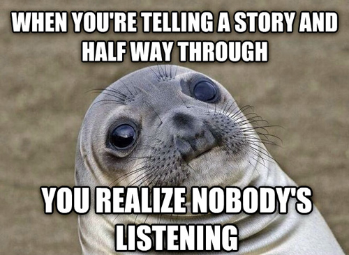 talking with nobody listening
