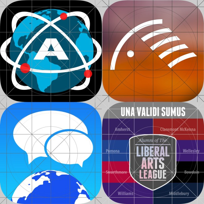 ios app icon designed with grid system
