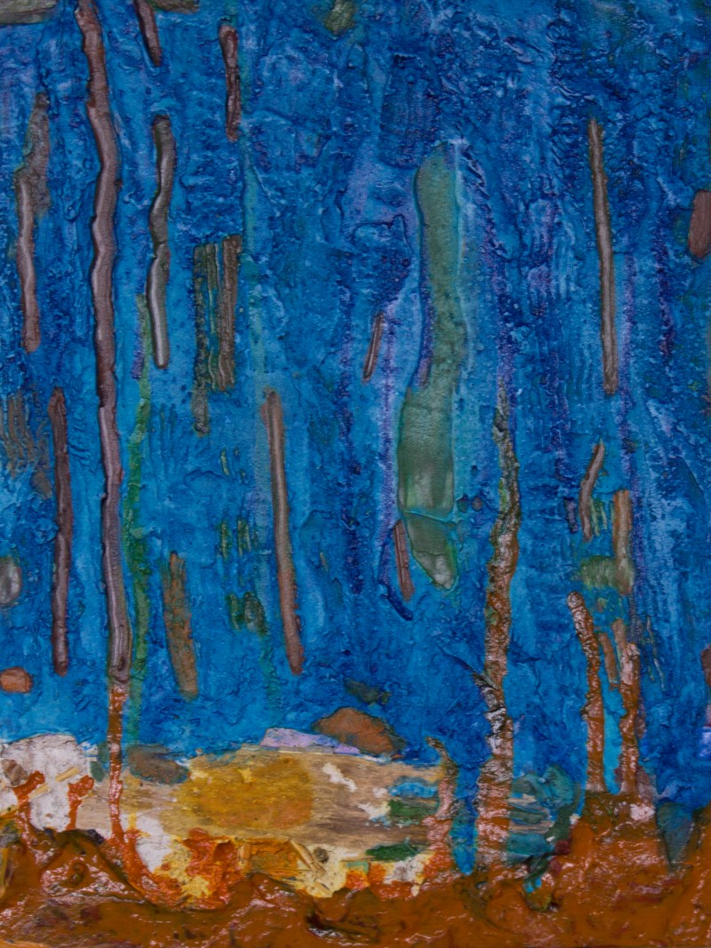 Blue Forest, 2015, Mixed Media, 14x11