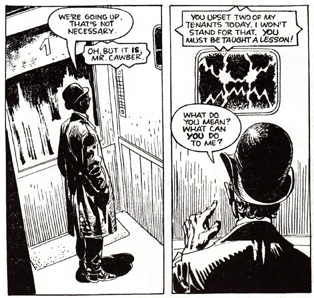 Panels from The Thirteenth Floor by José Oritiz