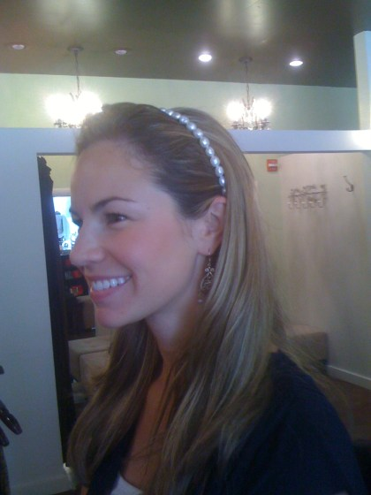 Valerie Allen's Jewelry Inspired Headbands (as modeled by Emily).  From $28 at Peyton's Place.