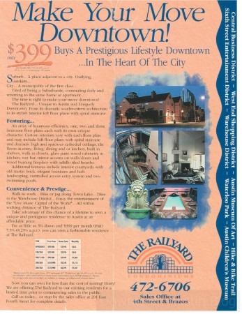 railyard condos marketing flyer