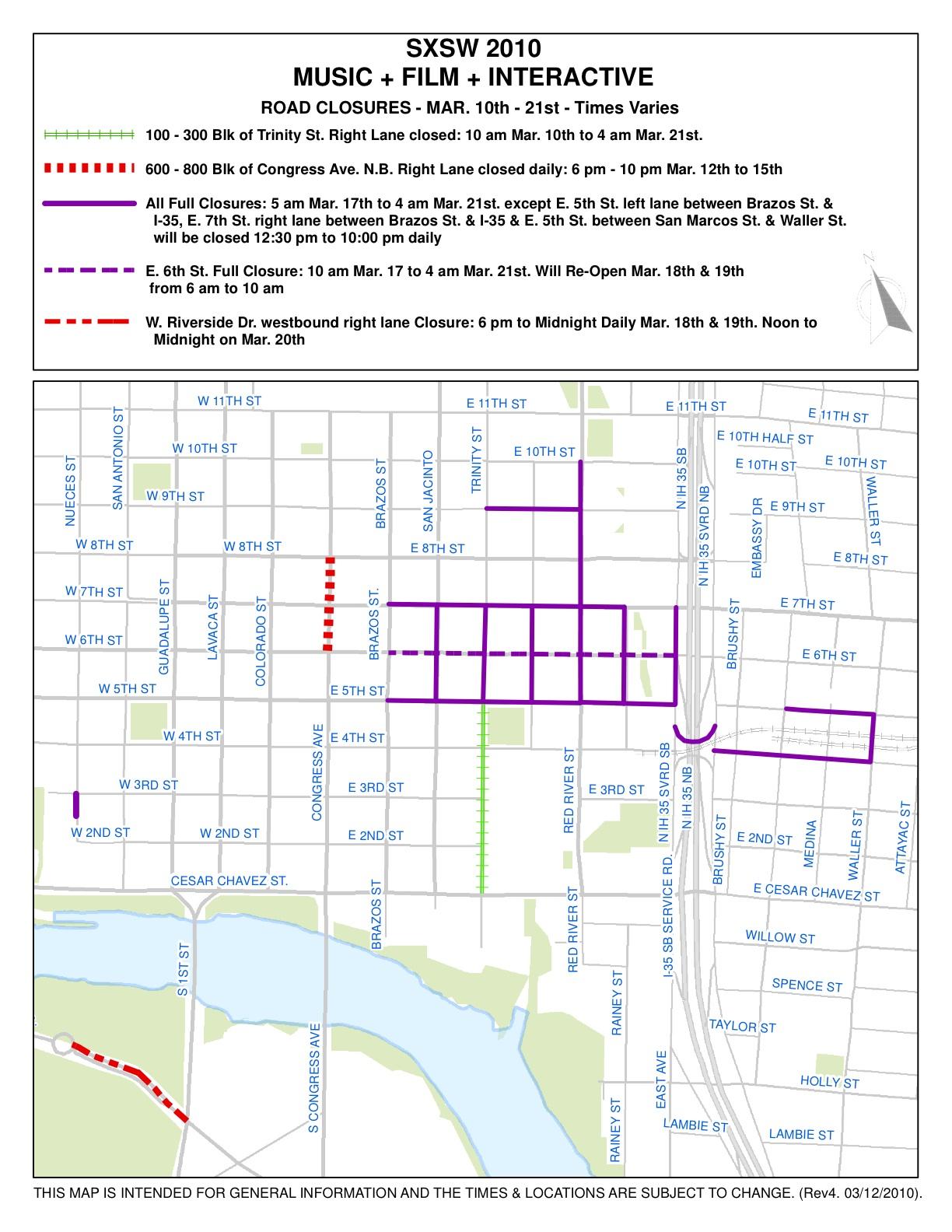 SXSW 2011 – Downtown Austin Street Closures