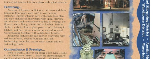 Recent History: An Original Railyard Condos Marketing Flyer