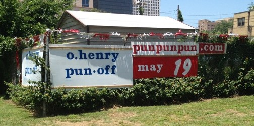O. Henry Pun Off at Brush Square Park in Downtown Austin May 19th
