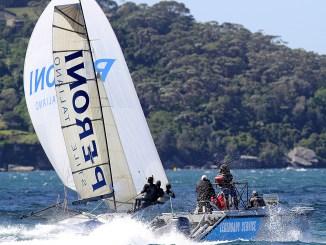 Peroni taking the chocolates on a wild Sydney Harbour