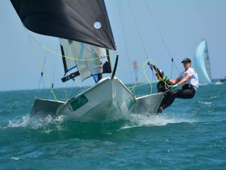The racing at the 9er class nationals has been highly competitive. Racing has been run by the Royal South Australian Yacht Squadron.