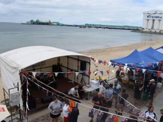 The view from the Port Lincoln Yacht Club balcony at the race presentation for the Teakle Classic Adelaide to Port Lincoln.